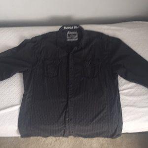 Buckle Black button up shirt